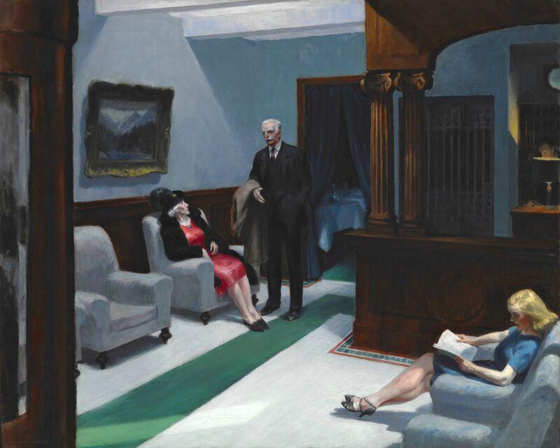 Hotel Lobby - Edward Hopper desde AUX BEAUX-ARTS Decor Image