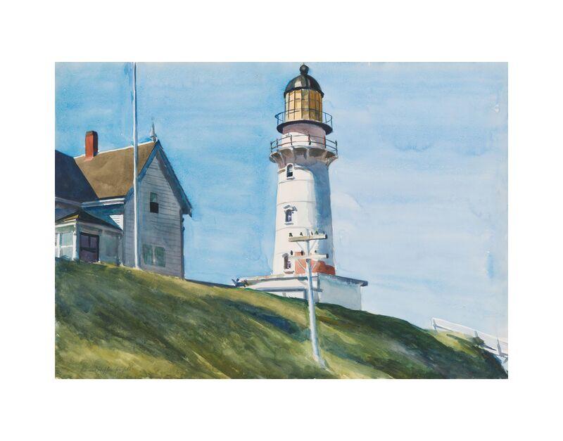 Luz en Dos Luces - Edward Hopper desde AUX BEAUX-ARTS, Prodi Art, Edward Hopper, faro, mar, ligero, casa, cielo