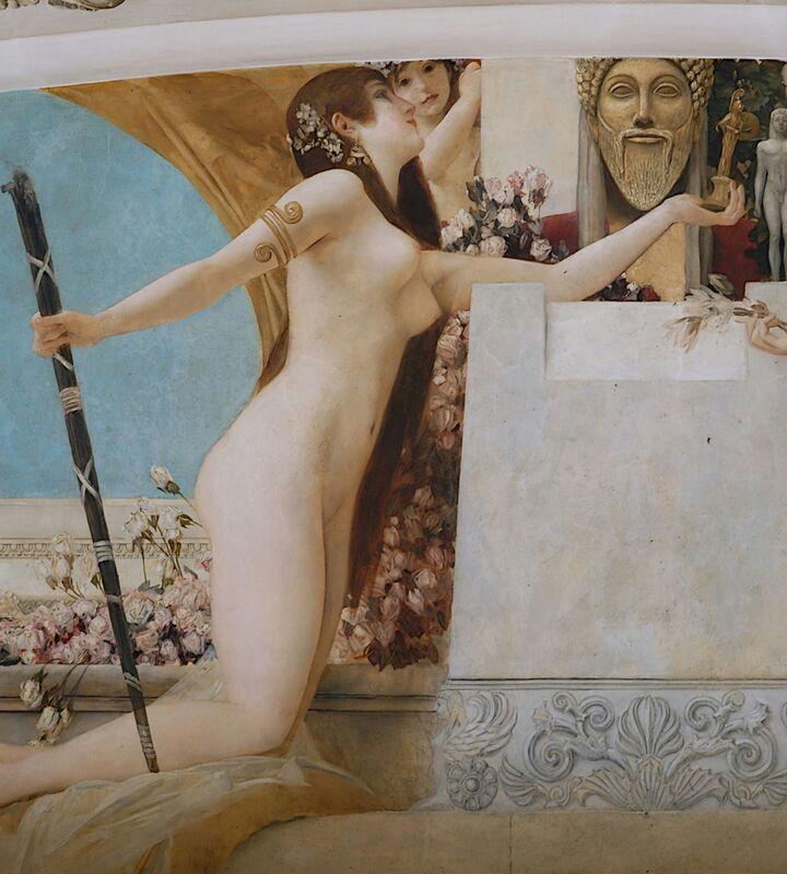 """""""L'Autel de Dionysos """" Détail - Gustav Klimt de AUX BEAUX-ARTS Decor Image"""