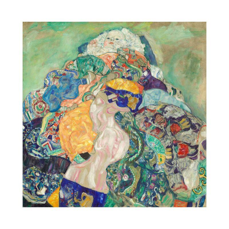 Bébé (berceau) - Gustav Klimt de AUX BEAUX-ARTS, Prodi Art, KLIMT, bébé, enfance, dessin, peinture, enfant, berceau