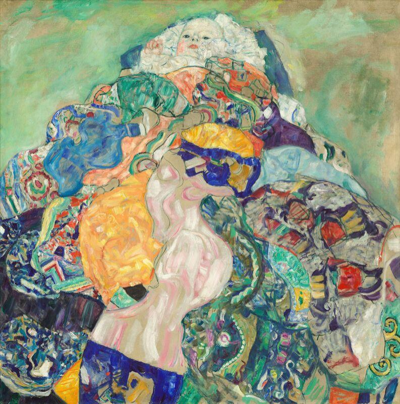 Bébé (berceau) - Gustav Klimt de AUX BEAUX-ARTS Decor Image