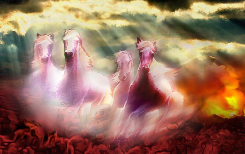 Descent of the horses from Adam da Silva Decor Image