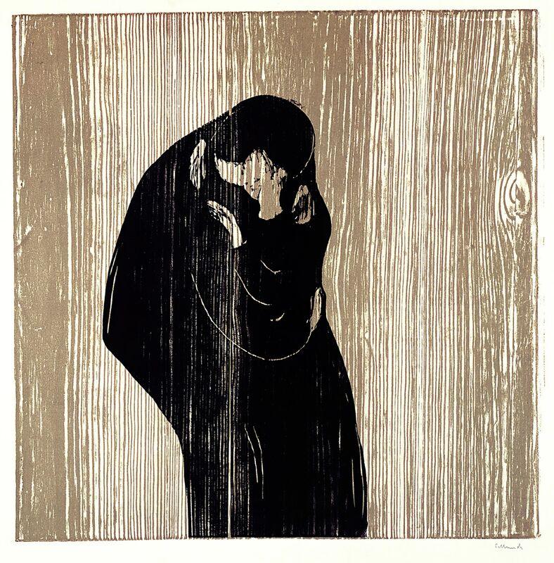 El Beso IV - Edvard Munch desde AUX BEAUX-ARTS Decor Image