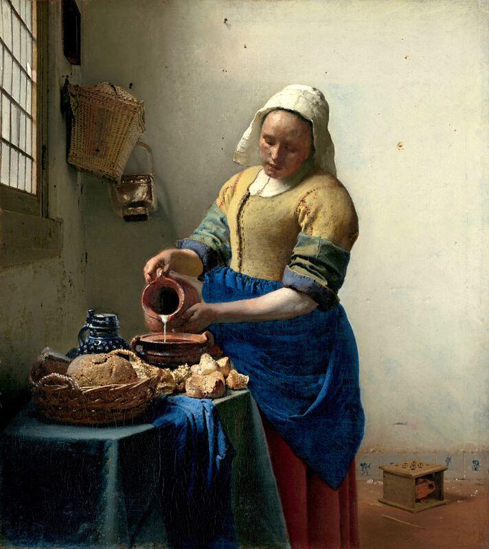 La Laitière - Johannes Vermeer de AUX BEAUX-ARTS Decor Image