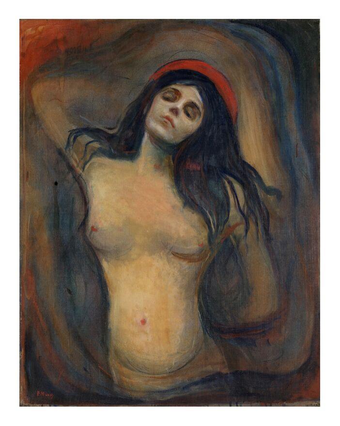 Madonna - Edvard Munch de AUX BEAUX-ARTS, Prodi Art, Edvard Munch, peinture, femme, amour, mort, naissance, sexualité