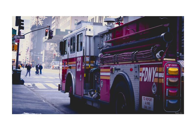 Fire Truck from Caro Li, Prodi Art, New-York, NY, USA, United States, Dear Li, Photography, photography