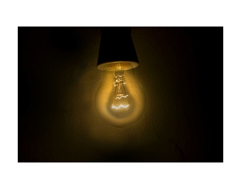 Weak light from Pierre Gaultier, Prodi Art, bright, bulb, close-up, dark, electric, electricity, energy, equipment, future, glow, idea, illuminated, lamp, light, power, technology