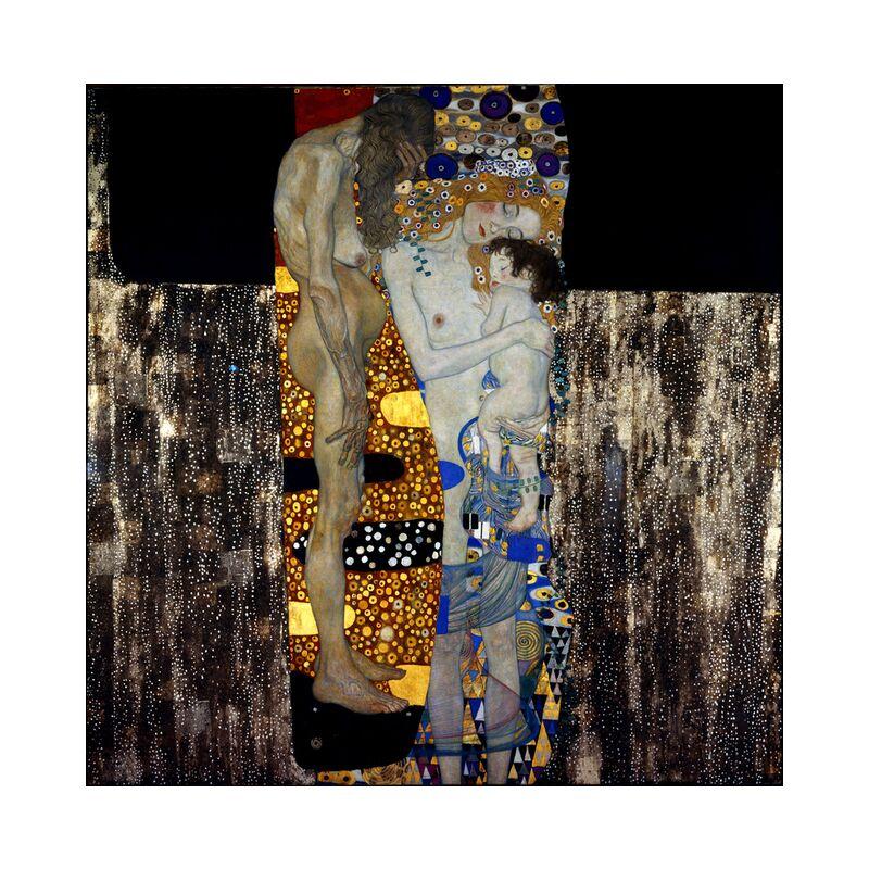 The Three Ages of Woman - Gustav Klimt desde AUX BEAUX-ARTS, Prodi Art, crecer, años, vejez, tablero, pintura, niño, mujer, KLIMT