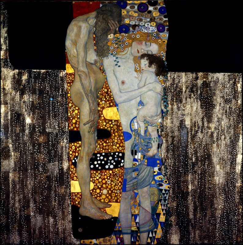 The Three Ages of Woman - Gustav Klimt desde AUX BEAUX-ARTS Decor Image