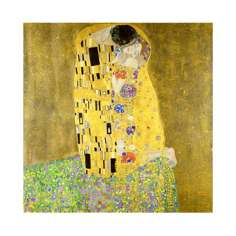 El beso - Gustav Klimt desde AUX BEAUX-ARTS, Prodi Art, KLIMT, art nouveau, Beso, hombre, mujer, Pareja, amor, vestido, pintura