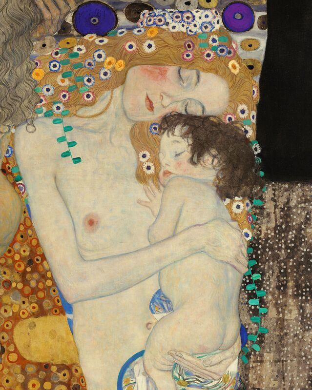 Détails de Les trois âges de la femme - Gustav Klimt de AUX BEAUX-ARTS Decor Image