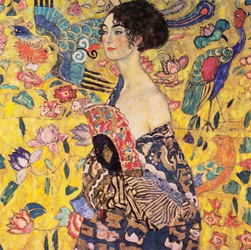 The Lady with a Fan - Gustav Klimt desde AUX BEAUX-ARTS Decor Image