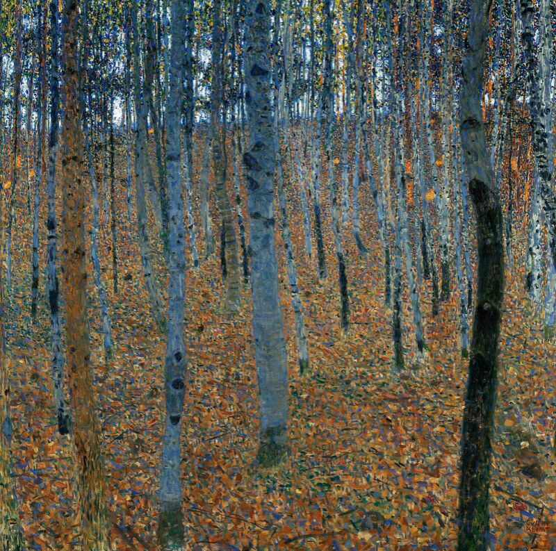 Beech Forest - Gustav Klimt from AUX BEAUX-ARTS Decor Image