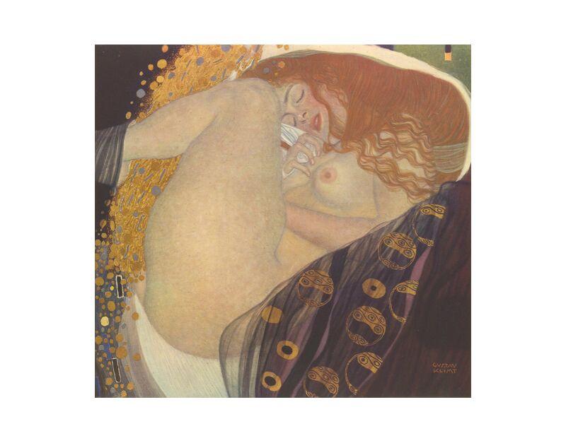Danae I - Gustav Klimt desde AUX BEAUX-ARTS, Prodi Art, KLIMT, sueño, acostar, noche, hoja, pelirrojo, desnudo, mujer, pintura, art nouveau
