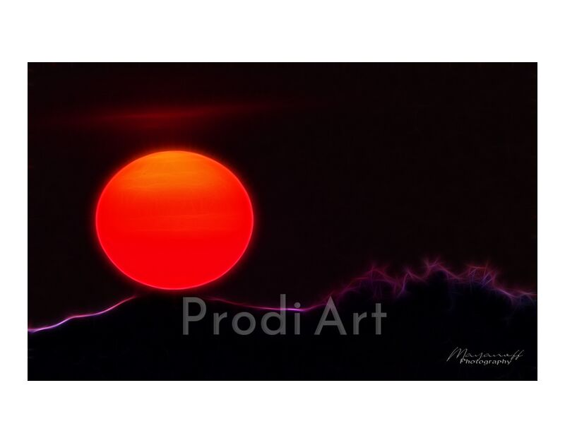 Artistic Sunset from Mayanoff Photography, Prodi Art, red, artistic, sunset, Sun, orange, sunset, design effect, fractalius, design effect