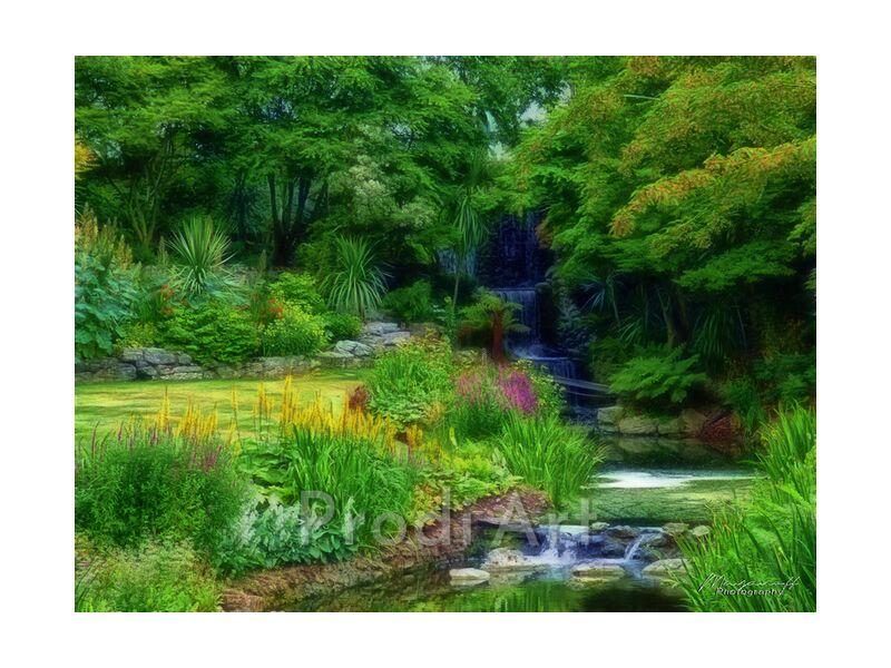 Garden of Eden from Mayanoff Photography, Prodi Art, painting, fractalius, garden, park, nature, green, cascade, flowers, creek, painting, garden, park, green, waterfall, flowers, stream