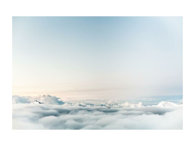 Over the clouds from Pierre Gaultier, Prodi Art, above, atmosphere, clouds, flight, flying, freedom, high, horizon, mountains, peak, sky, summit