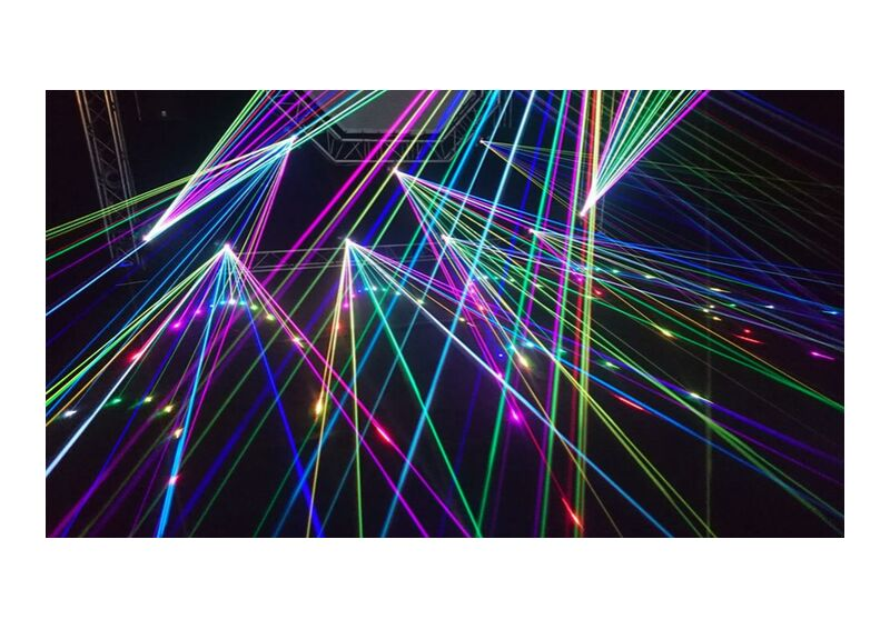 The laser show from Pierre Gaultier, Prodi Art, abstract, art, blur, bright, celebration, contemporary, dark, design, dj, graphic, illuminated, laser, laser show, light, lightshow, line, modern, motion, music, music festival, pattern, shape, technology