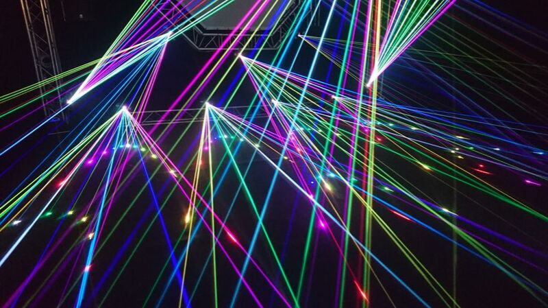 The laser show from Pierre Gaultier Decor Image