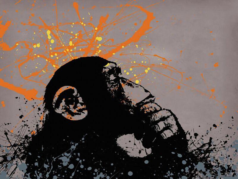 Thinker monkey - BANKSY desde AUX BEAUX-ARTS Decor Image
