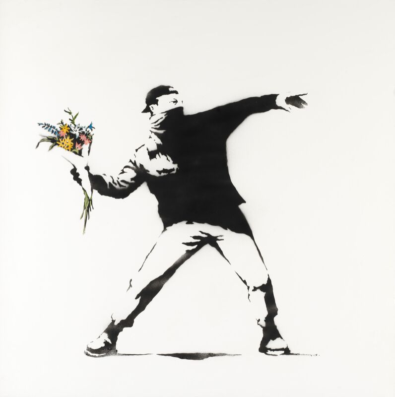 Love Is in the Air - BANKSY from AUX BEAUX-ARTS Decor Image