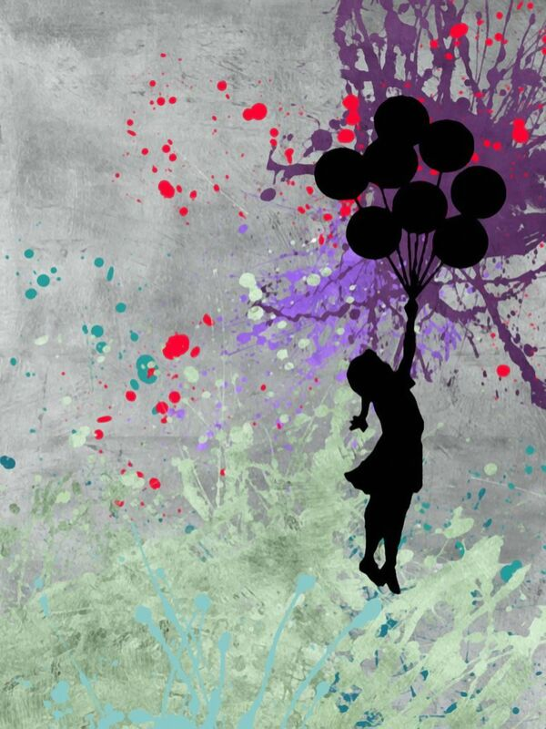Flying Balloon Girl - BANKSY from AUX BEAUX-ARTS Decor Image