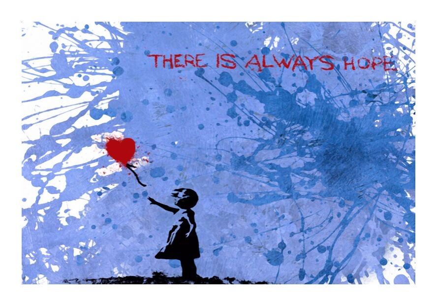 128 Balloon Girl - BANKSY from AUX BEAUX-ARTS, Prodi Art, banksy, street art, girl, girl, balloons