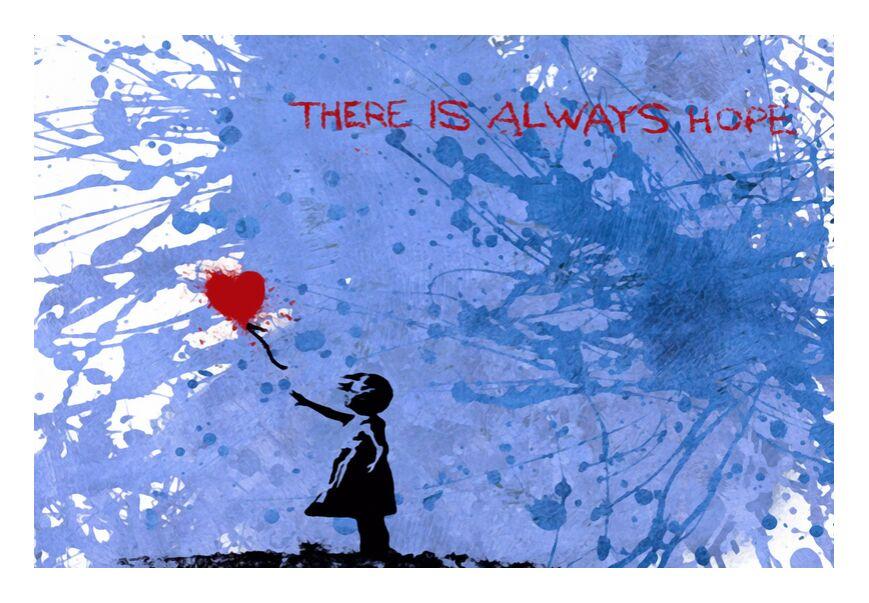La Fille aux 128 Ballons - BANKSY de AUX BEAUX-ARTS, Prodi Art, des ballons, fille, art de rue, Banksy