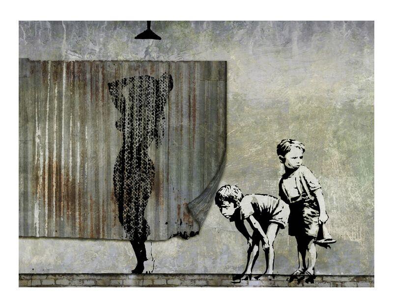 Shower Peepers - BANKSY desde AUX BEAUX-ARTS, Prodi Art, Banksy, ducha, arte callejero, pintada, voyeurs