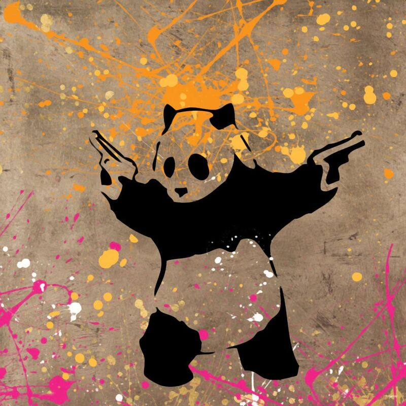 Panda with Guns - BANKSY from AUX BEAUX-ARTS Decor Image