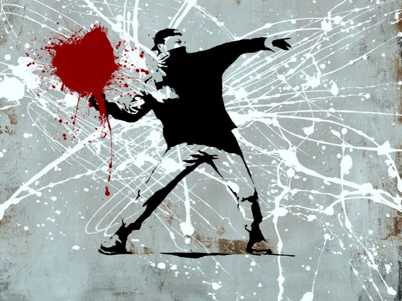 Painted heart Thrower - BANKSY desde AUX BEAUX-ARTS Decor Image