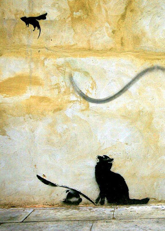 Cat - BANKSY desde AUX BEAUX-ARTS Decor Image