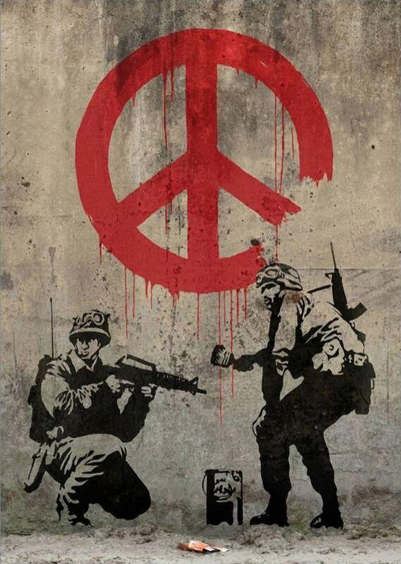Peace - BANKSY desde AUX BEAUX-ARTS Decor Image