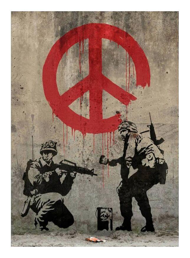 Peace - BANKSY from AUX BEAUX-ARTS, Prodi Art, banksy, peace, street art, graffiti
