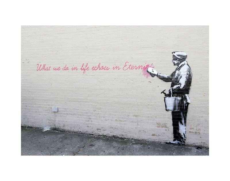 Echoes - BANKSY desde AUX BEAUX-ARTS, Prodi Art, eternidad, ecos, BANSKY, pintada, arte callejero