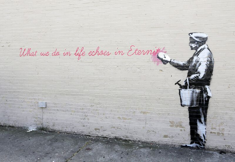 Echoes - BANKSY from AUX BEAUX-ARTS Decor Image