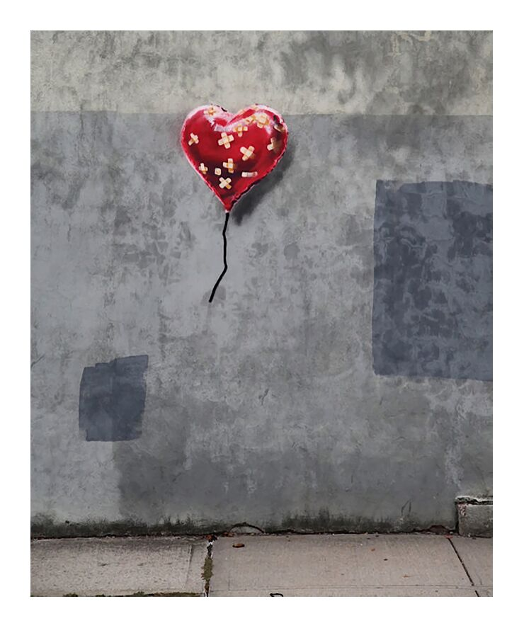 NY Love - BANKSY from AUX BEAUX-ARTS, Prodi Art, graffiti, love, NYC, New-York, street art, banksy