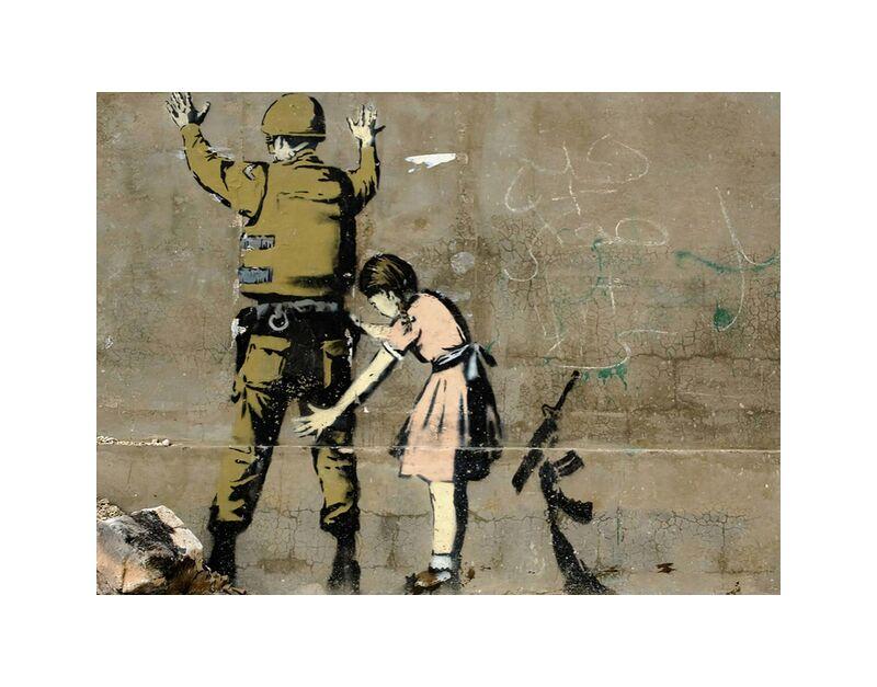 War - BANKSY desde AUX BEAUX-ARTS, Prodi Art, armado, paz, niña, militar, guerra, Banksy