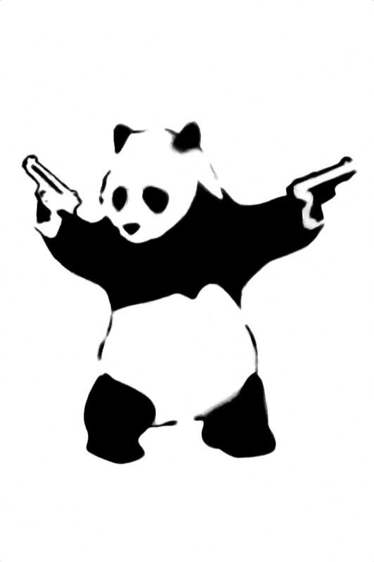Pandamonium - BANKSY desde AUX BEAUX-ARTS Decor Image