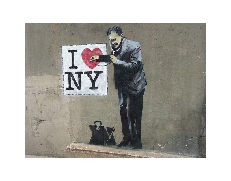 I Love NY - BANKSY desde AUX BEAUX-ARTS, Prodi Art, Banksy, Nueva York, arte callejero, amor, pintada