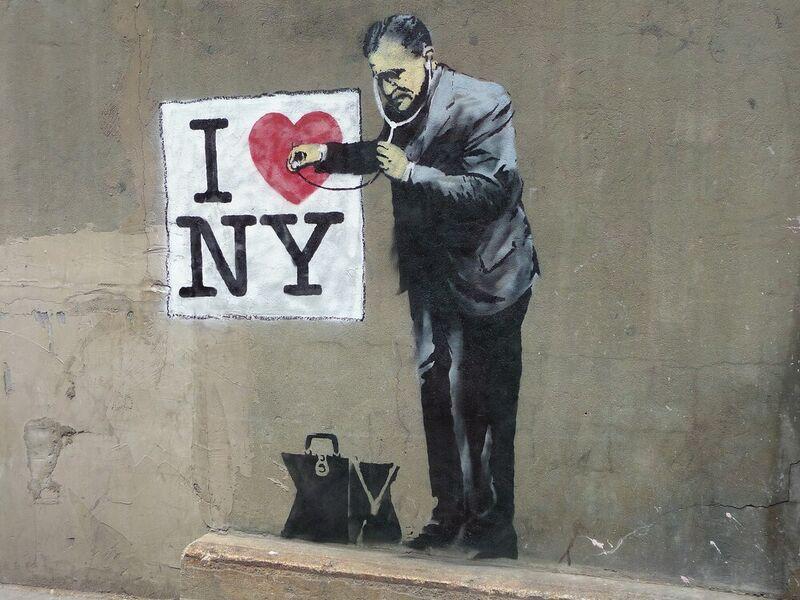 I Love NY - BANKSY desde AUX BEAUX-ARTS Decor Image