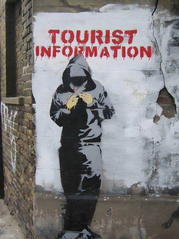 Tourist Information - BANKSY desde AUX BEAUX-ARTS Decor Image
