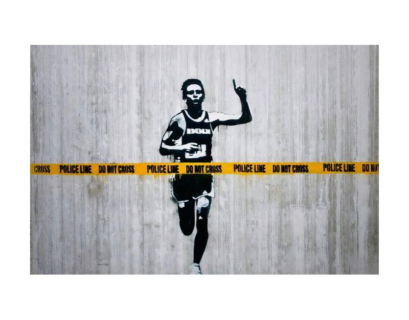 Do not cross - BANKSY desde AUX BEAUX-ARTS, Prodi Art, Banksy, arte callejero, curso, policía, corredor, encuesta