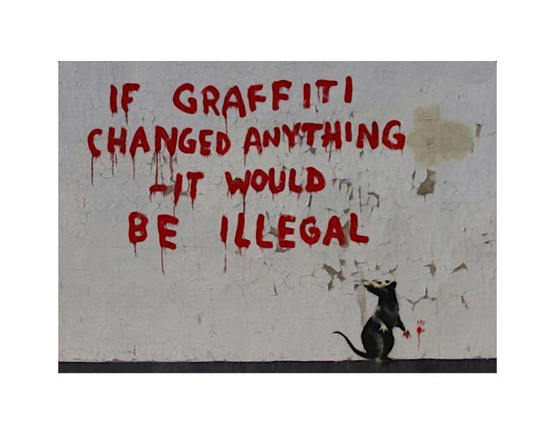 If Graffiti changed anything - BANKSY desde AUX BEAUX-ARTS, Prodi Art, Banksy, arte callejero, rata, pintada