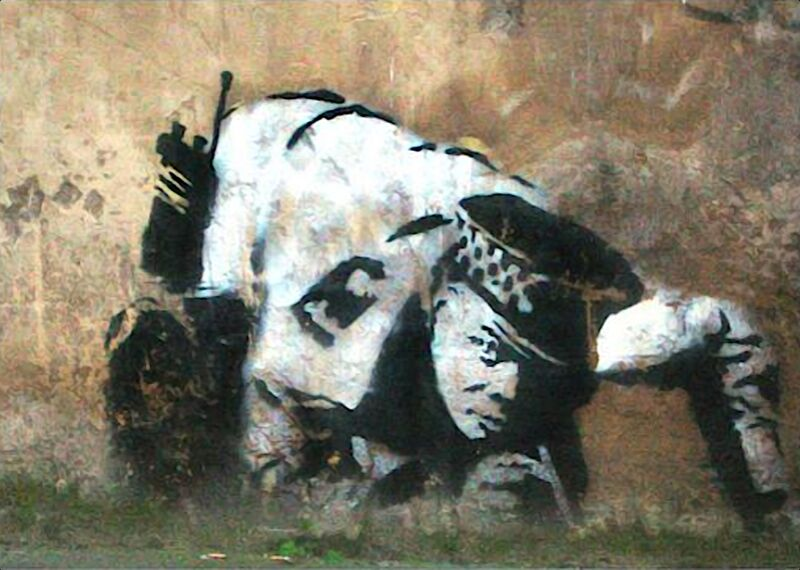 Crouching Policeman - BANKSY desde AUX BEAUX-ARTS Decor Image