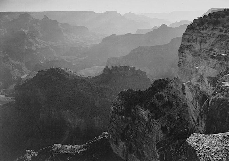 """Vue sur le """"Grand Canyon National Park"""" en Arizona - Ansel Adams from AUX BEAUX-ARTS Decor Image"""