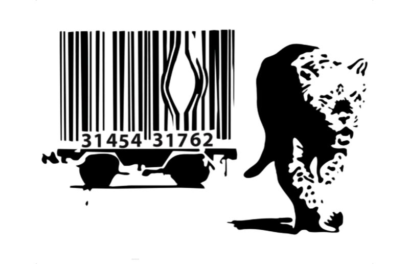 Barcode - BANKSY from AUX BEAUX-ARTS Decor Image