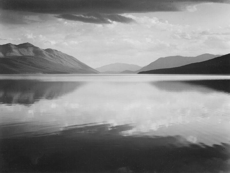 Evening McDonald Lake Glacier National Park - ANSEL ADAMS desde AUX BEAUX-ARTS Decor Image