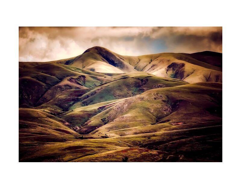 Paysage vallonné de Pierre Gaultier, Prodi Art, Islande, montagnes, ciel, nuages, nature, en plein air, paysage, collines, Pays, campagne, couché de soleil, lever du soleil