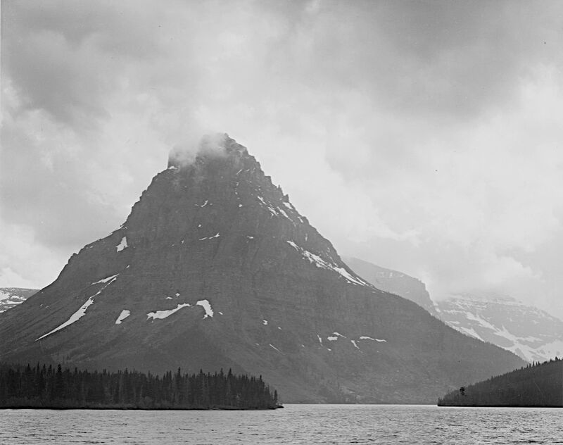 High Lone Mountain Peak Lake In Foreground - Ansel Adams from AUX BEAUX-ARTS Decor Image